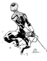 Superior Spider-man marker sketch inks by JoeyVazquez