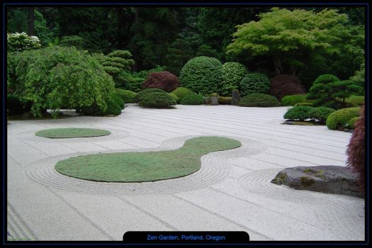 Zen Garden, Portland, Oregon by bentleyw