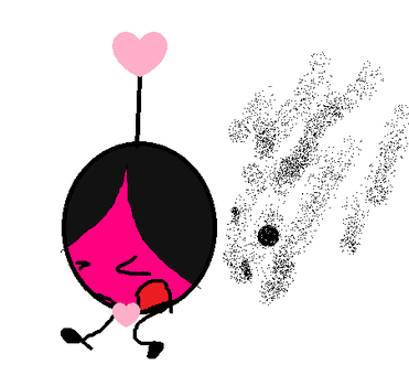Pink Ball is chased by bees by yinyang-yinyeng