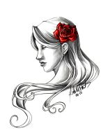 Lady of the Rose by Isadora-Legata