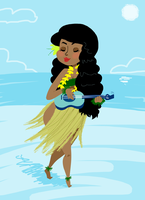 Hula Hula Girl by Zelda1000