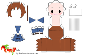 Hetalia Italy Papercraft by tsunyandere