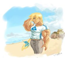 Kira at the beach by ayanamifan