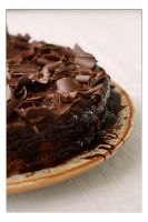 Chocolate cake detail.2 by Skyunlimited