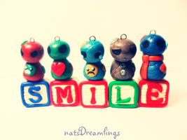 Smile: Polymer Clay Patchies' Photo Shoot by Saru-Hime