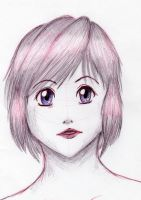 Anime Girl in Pen by bloominglove