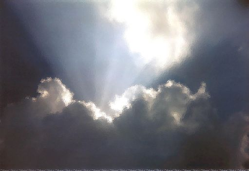 Sunlight through the clouds by indigowhim333