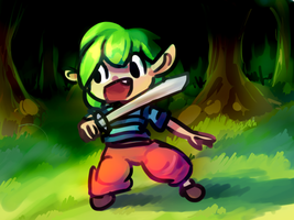 forest + elf girl thing by theasyname