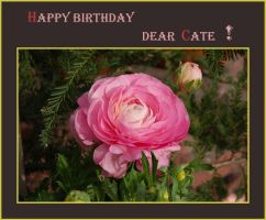 Happy Birthday  Cate by ForgivenDreamSoul