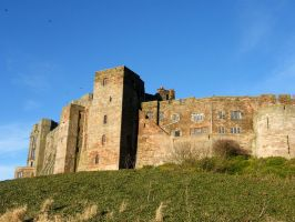 Bamburgh Castle Background stock 6 by Queenselphie