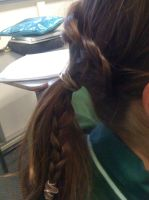 Waterfall braid into ponytail by Axel-is-Sexy-K7