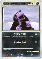 Count Von Count Pokemon Card by XMSB