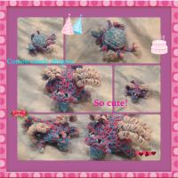 Rainbow loom cotton candy dragons by Technoloaf