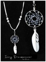 Ivory Dreamweaver -dreamcatcher necklace by SaQe