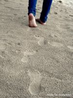 Footprints in The Sand by Foxy-Feet