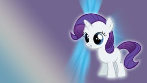 Filly Rarity Wallpaper by Pappkarton