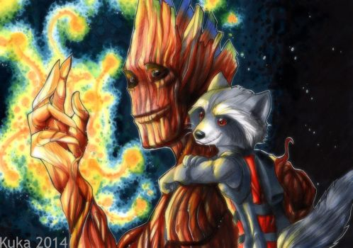 We are Groot by Pandablubb