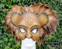 Lion Masquerade Mask by Alyssa-Ravenwood