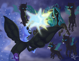 Nocturnal Battle by PhantomAvenwarrior