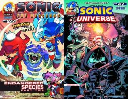 Sonic the Hedgehog#244 and Sonic Universe #47 by RocketSonic
