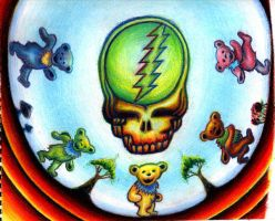 the grateful dead by Enies-eht-Knis