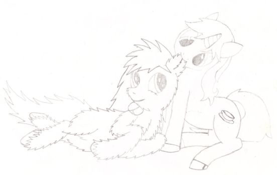 Fwuffy x Gypsy ear nibble by Inciatus