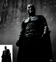 Dark Knight Drawing HD w/ wall by SykoraLukas