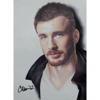 Chris Evans Drawing by Live4ArtInLA