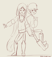 Marshall Lee and Marceline by uuber