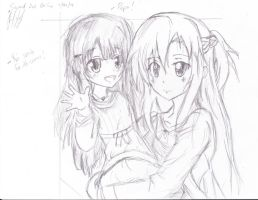 Sword Art Online Yui smile for the camera! by NazoLuk3