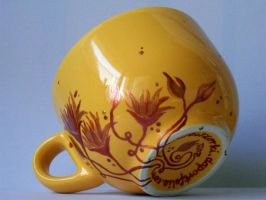 Coppery Flowers Mug by smist