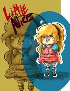 Little Grumpy (and bully) Alice in Wonderland by Xatruch