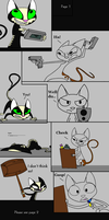 Cat vs Cat: page 1 by FrankinPoodle