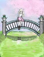 Girl on bridge by Button-the-random