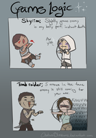 Game logic: Skyrim vs. Tomb Raider by Gakirlein