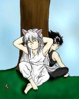 Chibi Youko and Hiei by greenfire