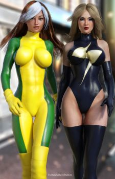 Rogue and Ms Marvel by tiangtam