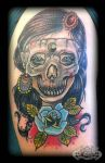Skull Lady by state-of-art-tattoo