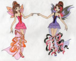 Rq for ~Catty-13: Hannah and Iris harmonix by carli29