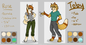 Rose and Toby Reference sheet by Kittyhawkman