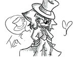 Mad Hatter (Art Trade with PikaPika) by FoxChimer42