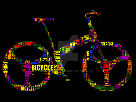 Bicycle 2 Typography by somsongart