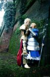 Flowers Scattered - Gilgamesh x Saber by AndrewsSchmidt
