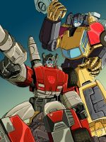 Sideswipe And Sunstreaker Colors Wip 2 by BDixonarts