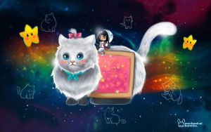 Nyan Cat in space by jennduong