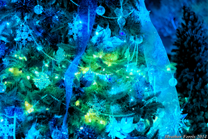 Blue Christmas Tree by Qtsy
