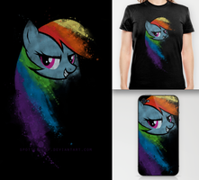 Rainbow Dash T-Shirt / Skin by Dexlin