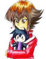Judai and his plushie by sydchan