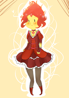 MEGA KAWAII FLAME PRINCESS by SplicedLamia