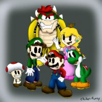 Mario Bros by chiby-furry